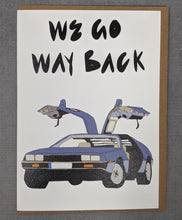 Back to the future gift card