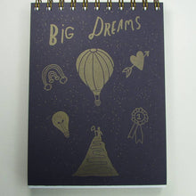 Big dreams notebook