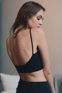 Black low back seamless bra