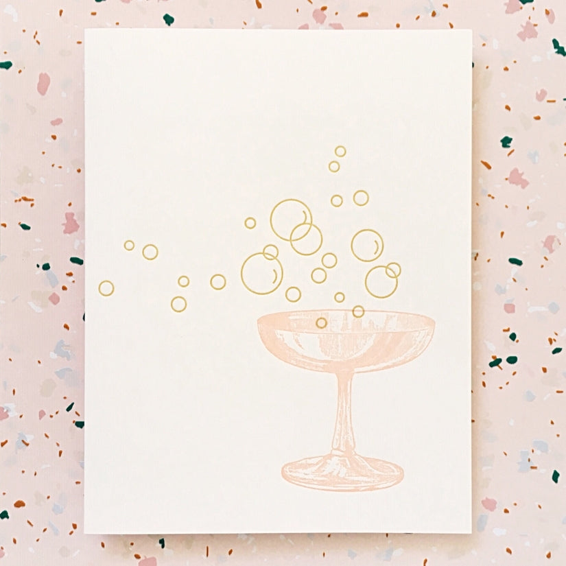 Champagne Bubbles Card