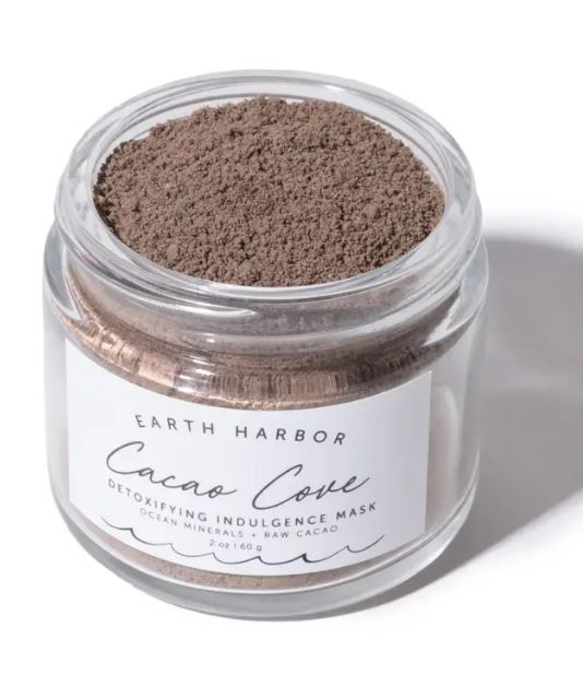 earth harbor cacao detoxifying mask with sea minerals