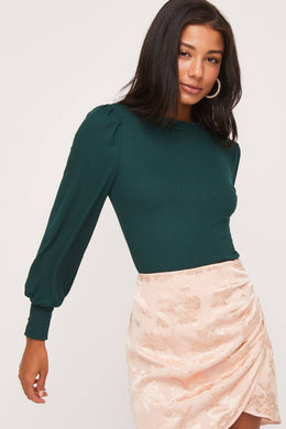 Long Sleeve Forest Green Top