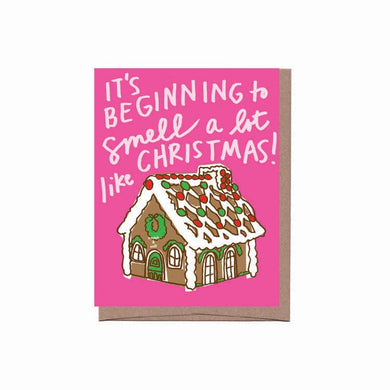 Scratch & Sniff Gingerbread House Holiday Card