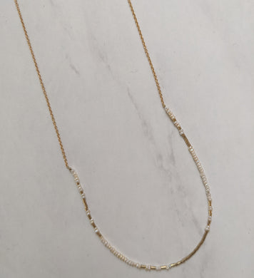 gold fill and freshwater pearl necklace