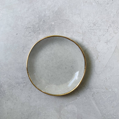 Grey porcelain ring dish