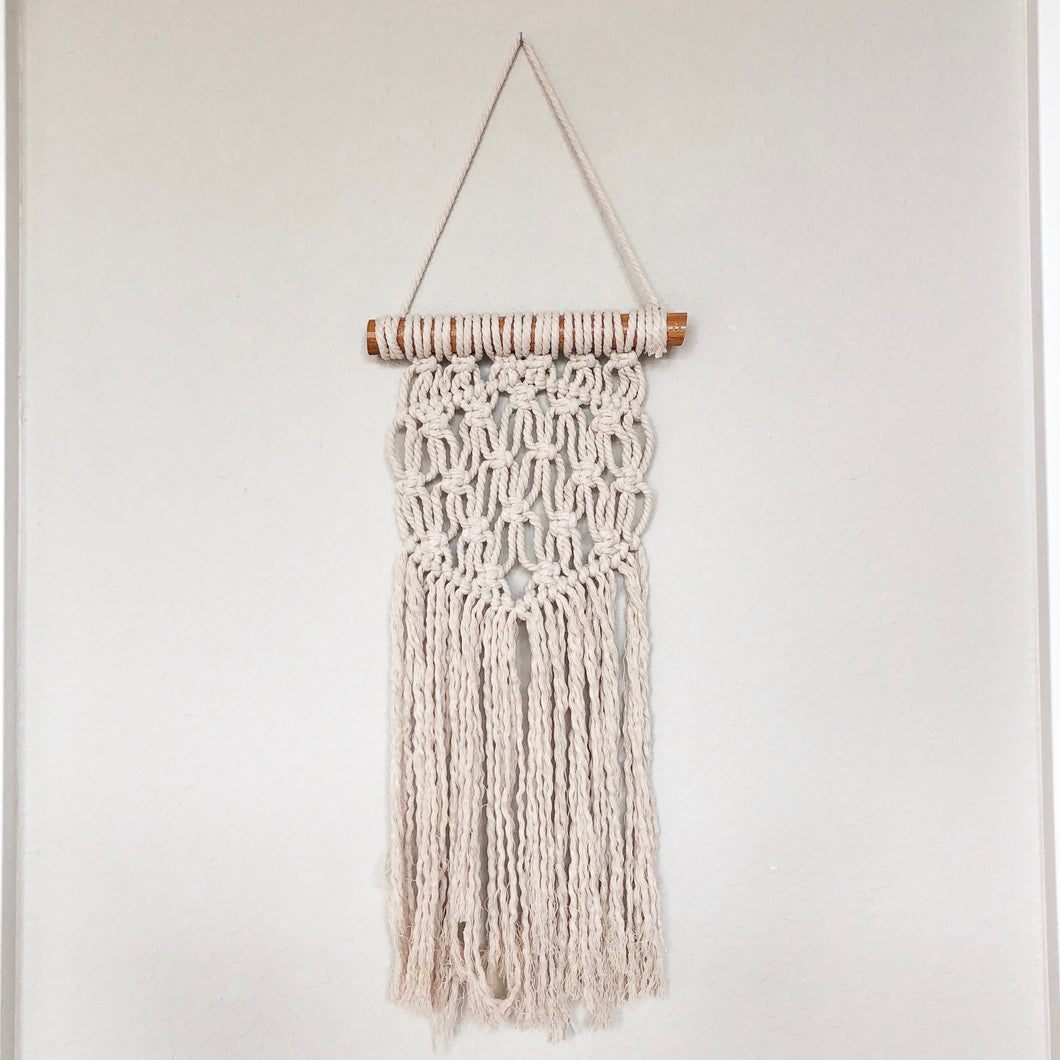 hand woven macrame wall hanging