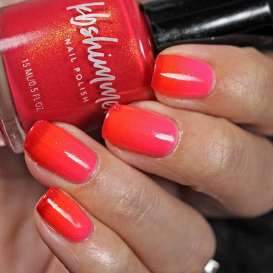 pink red orange nail polish