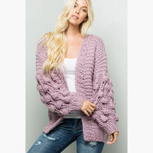 Lavender chunky knit cardigan
