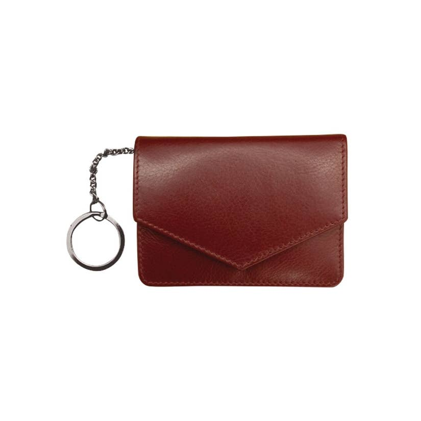 maroon leather wallet