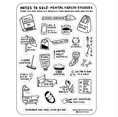 Mental Health Sticker Sheet