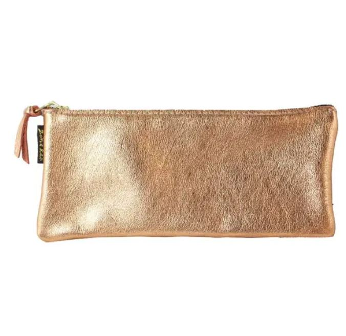 Gold Metallic Grant Clutch