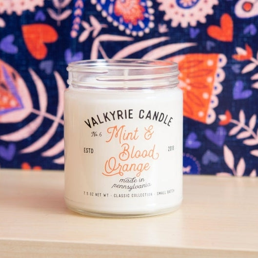 Mint and Blood Orange Candle