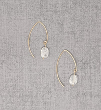 yellow gold fill oval moonstone earrings