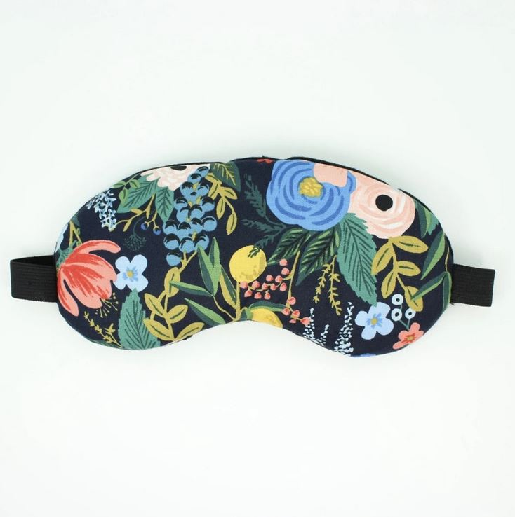 Navy floral eye mask