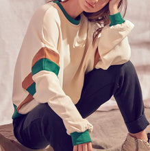 Color block oversized sweatshirt