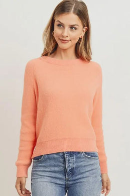 Peachy pink sweater