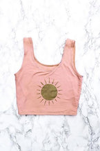 Peach Birth Of The Sun Organic Crop Top