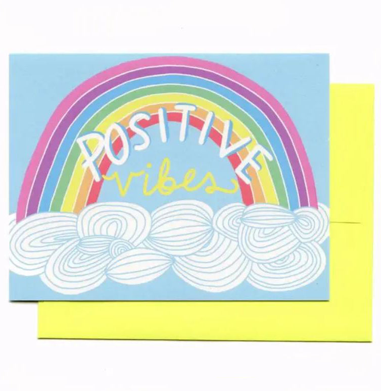 Positive Vibes Rainbow Card