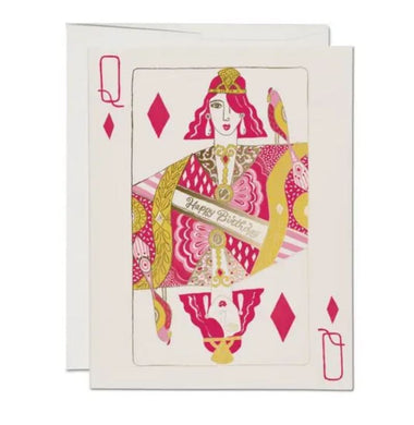 Queen of hearts birthday card