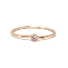 rose rose solitaire cz ring