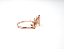 Rose gold sunrise ring