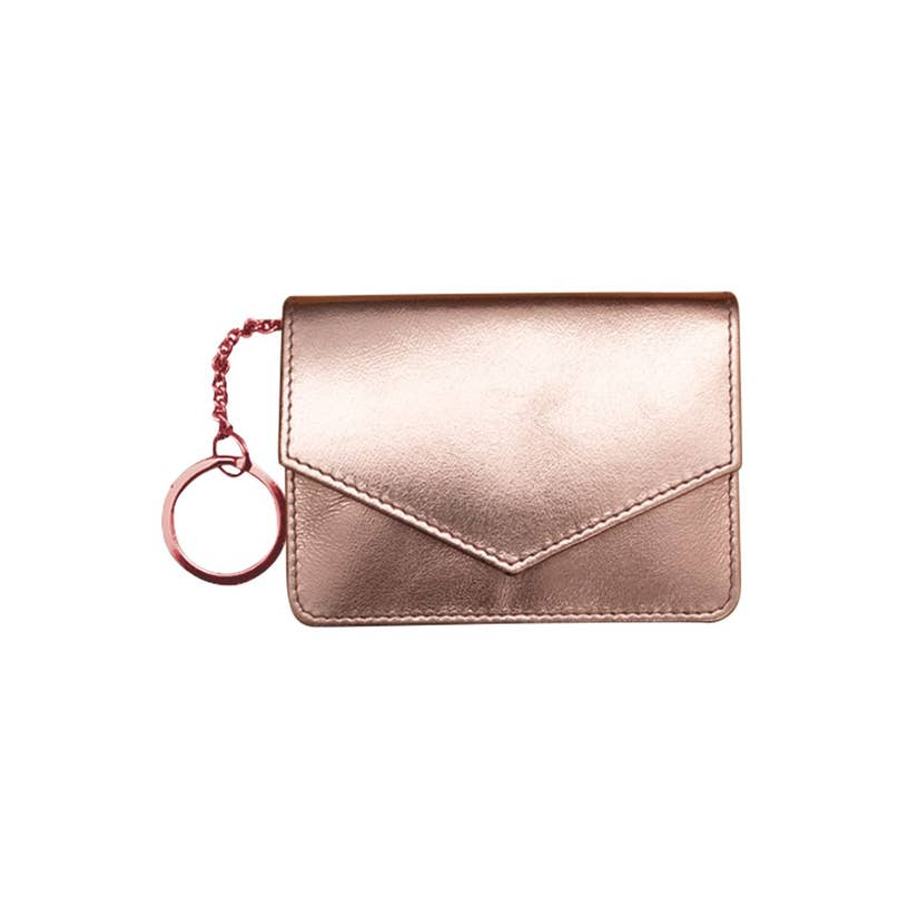 rose gold leather wallet