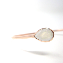 rose gold moonstone pear cuff bracelet