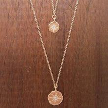 rose gold starburst pendant necklace with cz