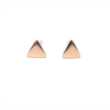 rose gold triangle stud earrings