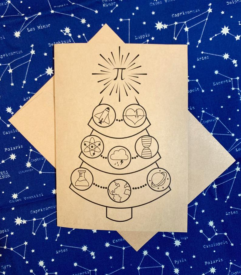 Science Tree Holiday Card