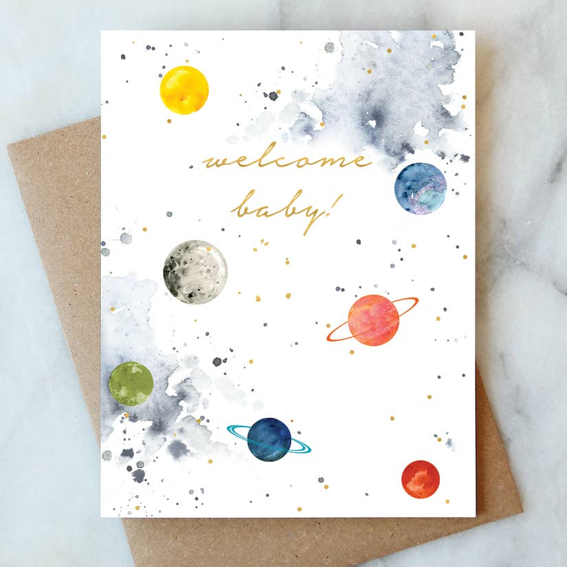 baby space card