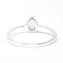 Sterling Silver Pear Moonstone Ring