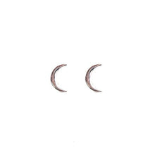 sterling silver moon stud earrings