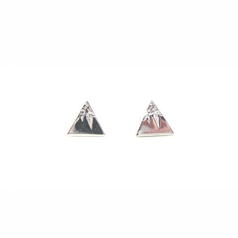sterling silver mountain stu earrings