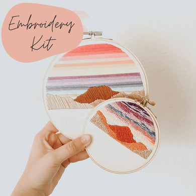 sunset beginner embroidery kit