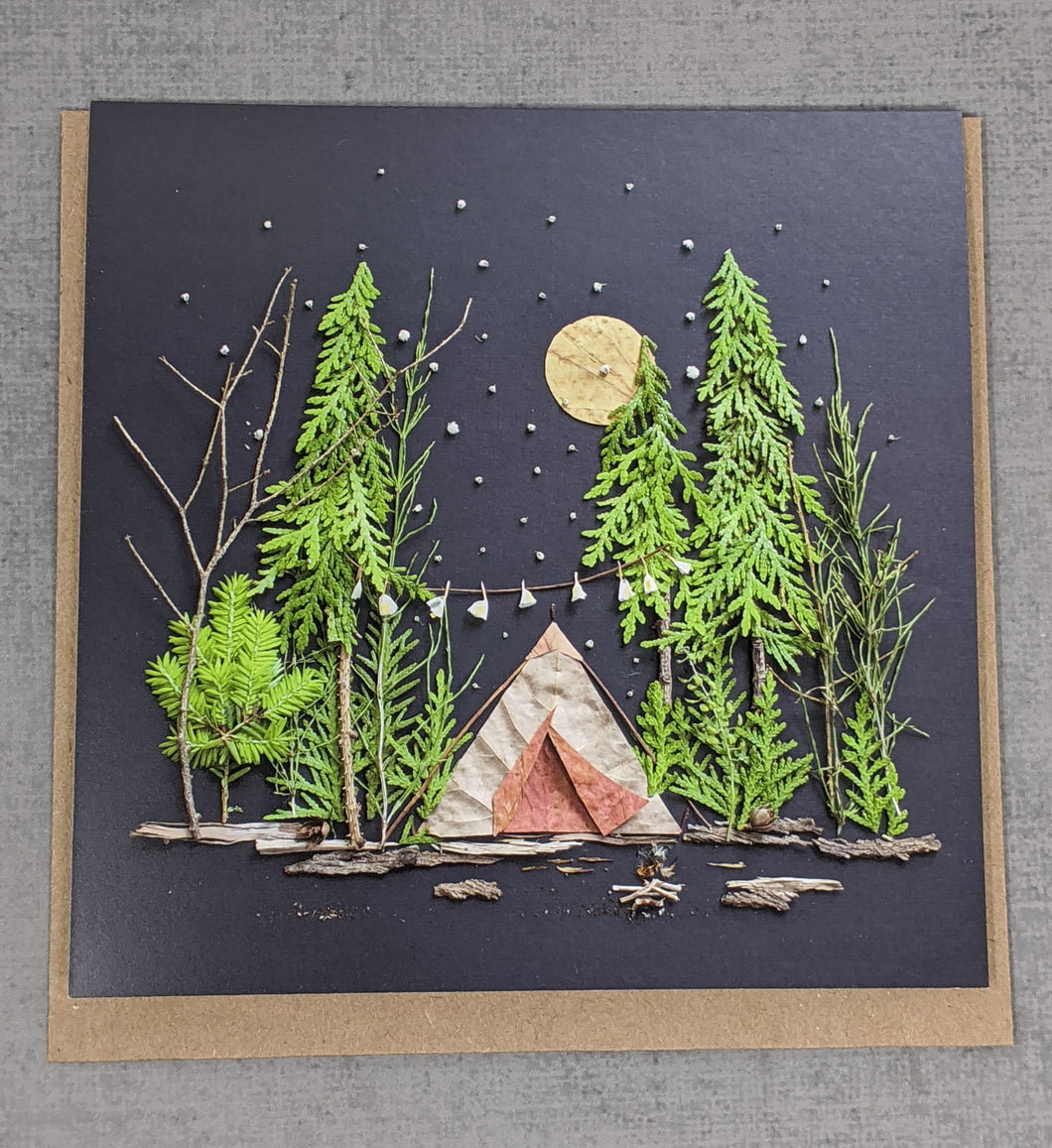 Botanical camping card