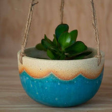 Turquoise Wave Hanging Planter