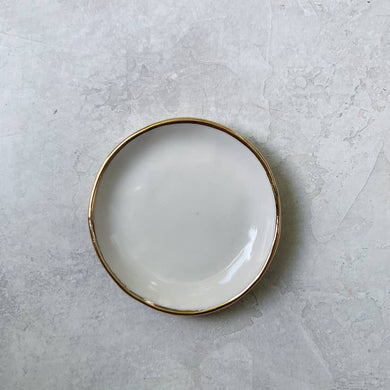White porcelain ceramic ring dish