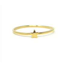 Yellow gold star ring
