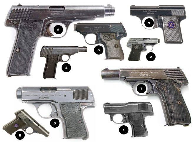 Walther - The Early Years Models 1 - 9