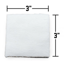Cotton Cleaning Patches - Multiple Sizes (Qty. 1000)