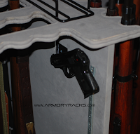 """Wall Hugger"" Handgun Rack - RJK Ventures Guns Shooting Accessories"