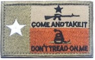 Don't Tread on Me Patch & Come and Take It Patch - RJK Ventures Guns Shooting Accessories