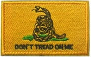 Don't Tread on Me Patch - RJK Ventures Guns Shooting Accessories