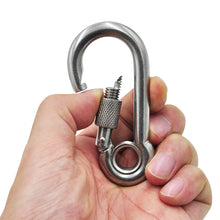 Stainless Steel Locking Snap Hook Carabiner