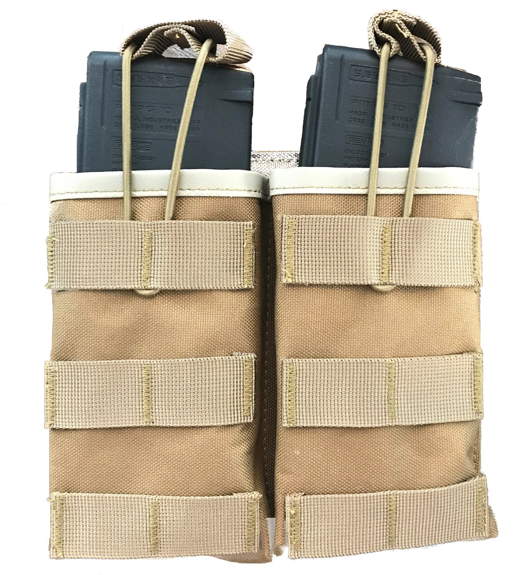 Double Mag Pouch with Bungee System for AR15 Mags with MAG|Couplers