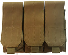Triple Mag Pouch with Hook and Loop Flap for AR15 Mags with MAG|Couplers