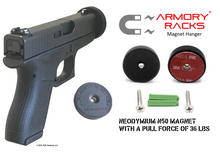 "Armory Racks® ""Magnet Rounds""  Hanger for Magazines, Accessories & Small Guns"