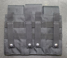 Triple Mag Pouch with Hook and Loop Flap for AR15 Mags with MAG|Couplers - Black or FDE