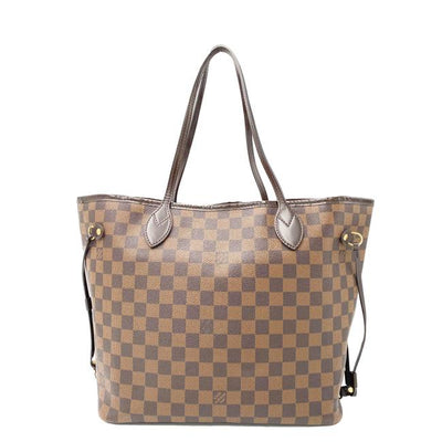 Louis Vuitton Neverfull Damier Ebene Mm Rose Ballerine Brown Canvas Tote